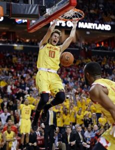 Jake Layman Dunks against Wisconsin